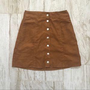 H&M Button Skirt
